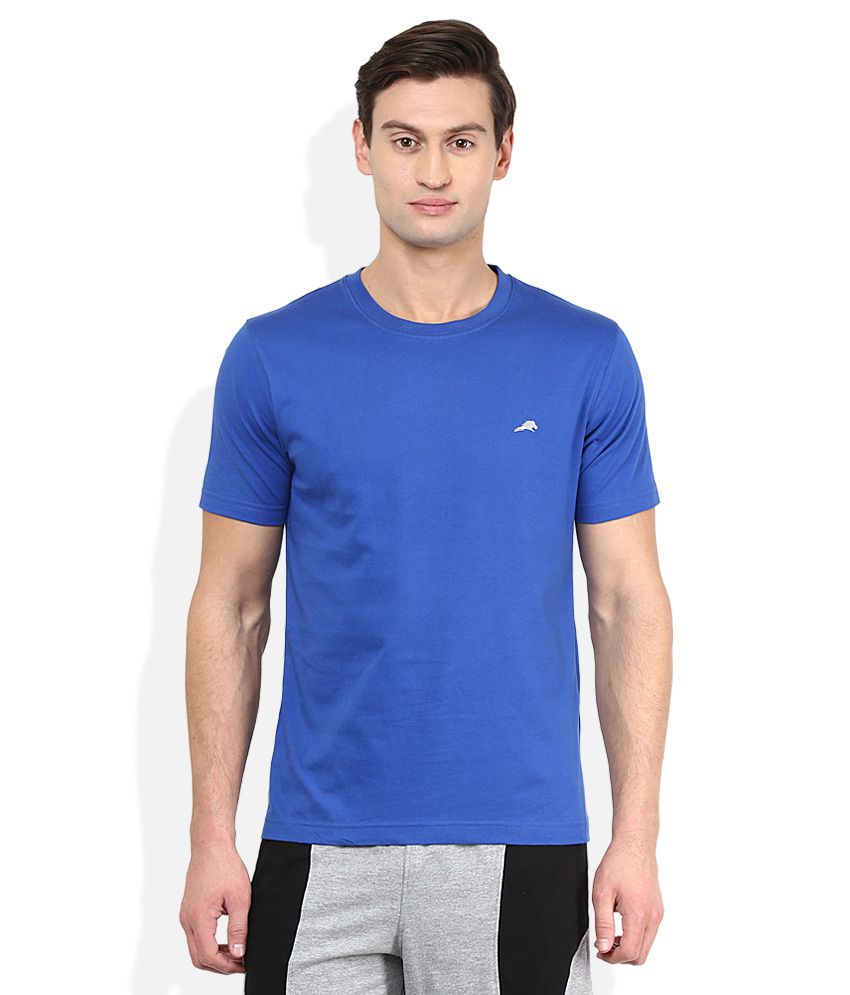 2go Blue Solid T-Shirt