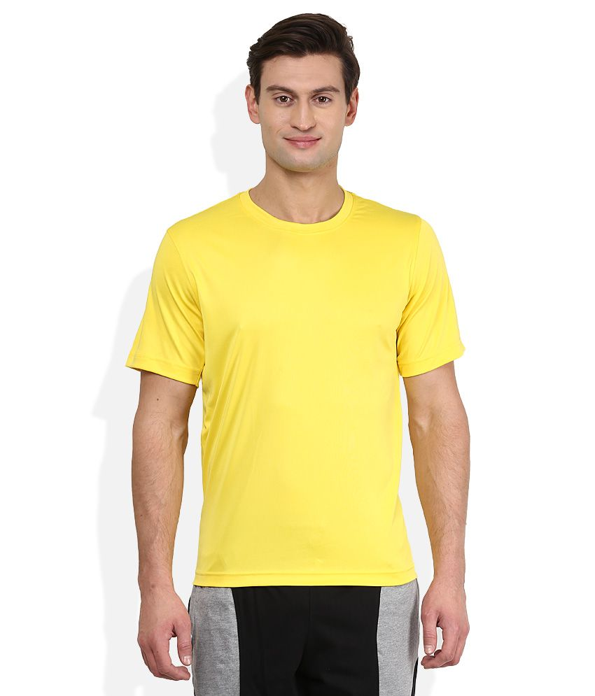 2go Yellow Solid T-Shirt