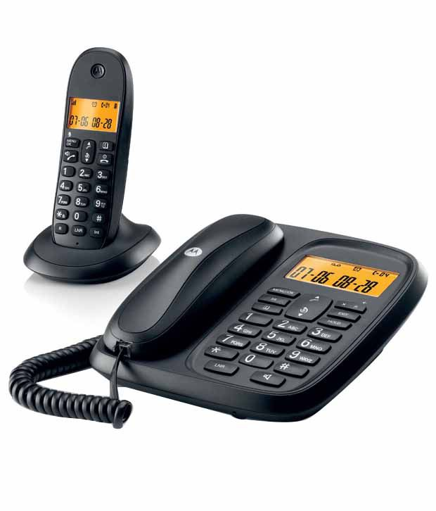 30e783b89b3 Buy Motorola C601I Corded-Cordless Combo Landline Phone Black Online at  Best Price in India - Snapdeal