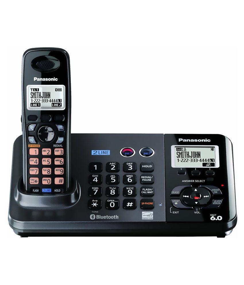buy panasonic kx tg9385bx cordless landline phone black landline phone online at best price in. Black Bedroom Furniture Sets. Home Design Ideas