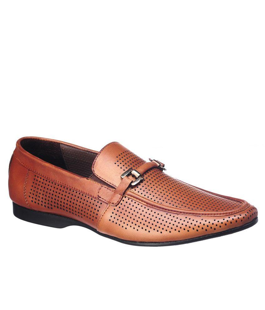 Pelle Albero Tan Loafers