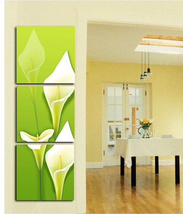 RythmArtz 3 Panel American Matte Texture Wall Painting on 12mm PVC Board