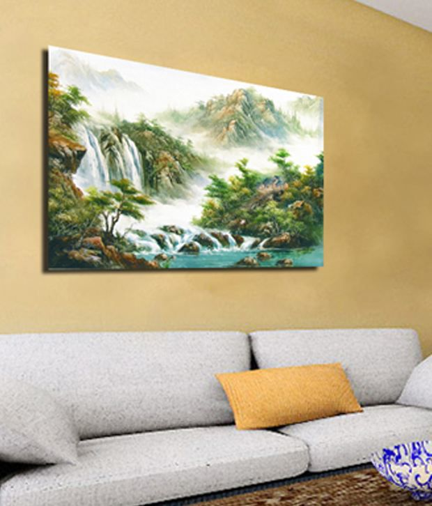 RythmArtz Canvas Texture Wall Painting on 12mm PVC Board