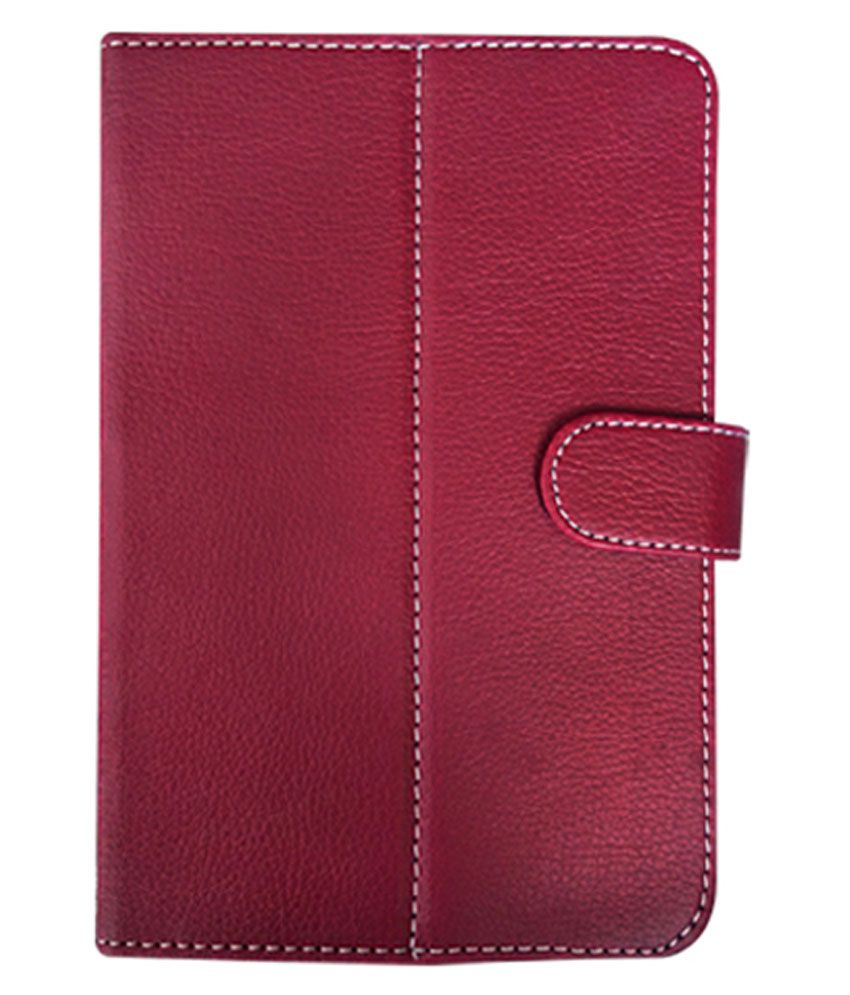 Fastway Flip Cover For Micromax Funbook Talk P362 - Red