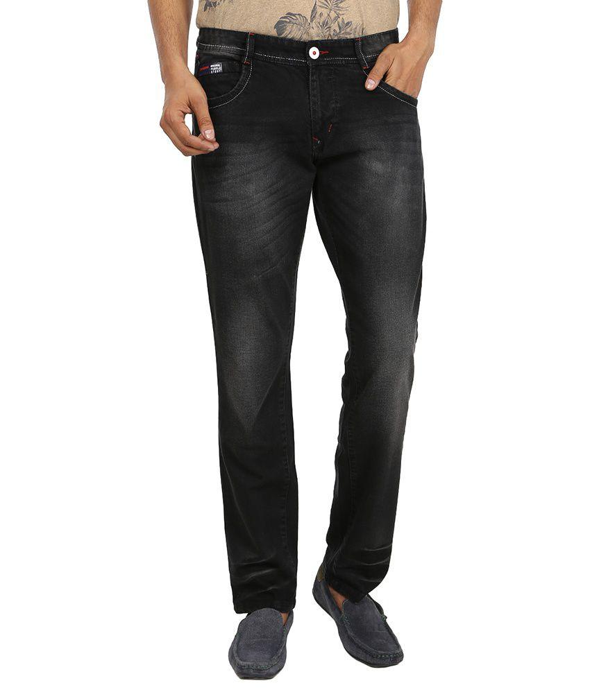 Virendra Kumar Jain Black Regular Fit Jeans