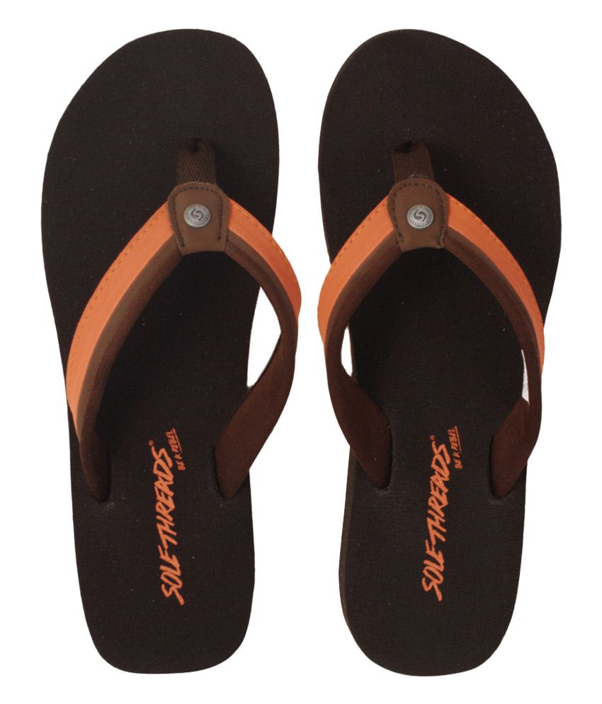Sole Threads Brown Flip Flops