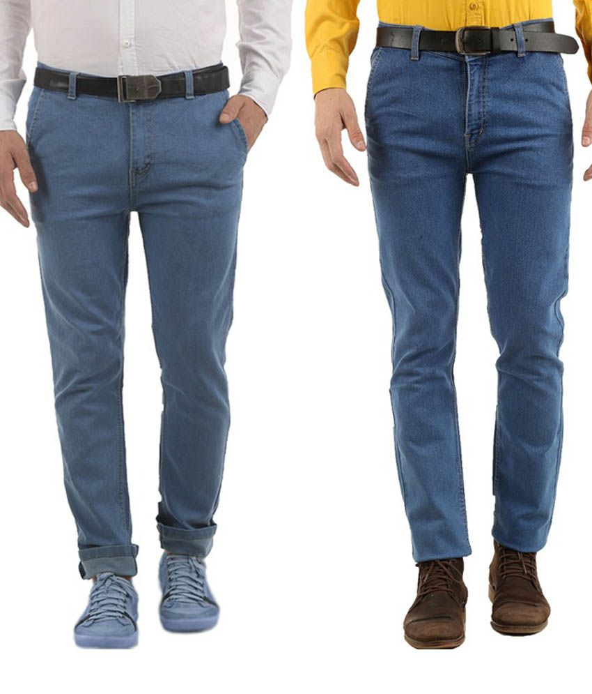 Western Texas 96 Blue Slim Fit Jeans - Set Of 2