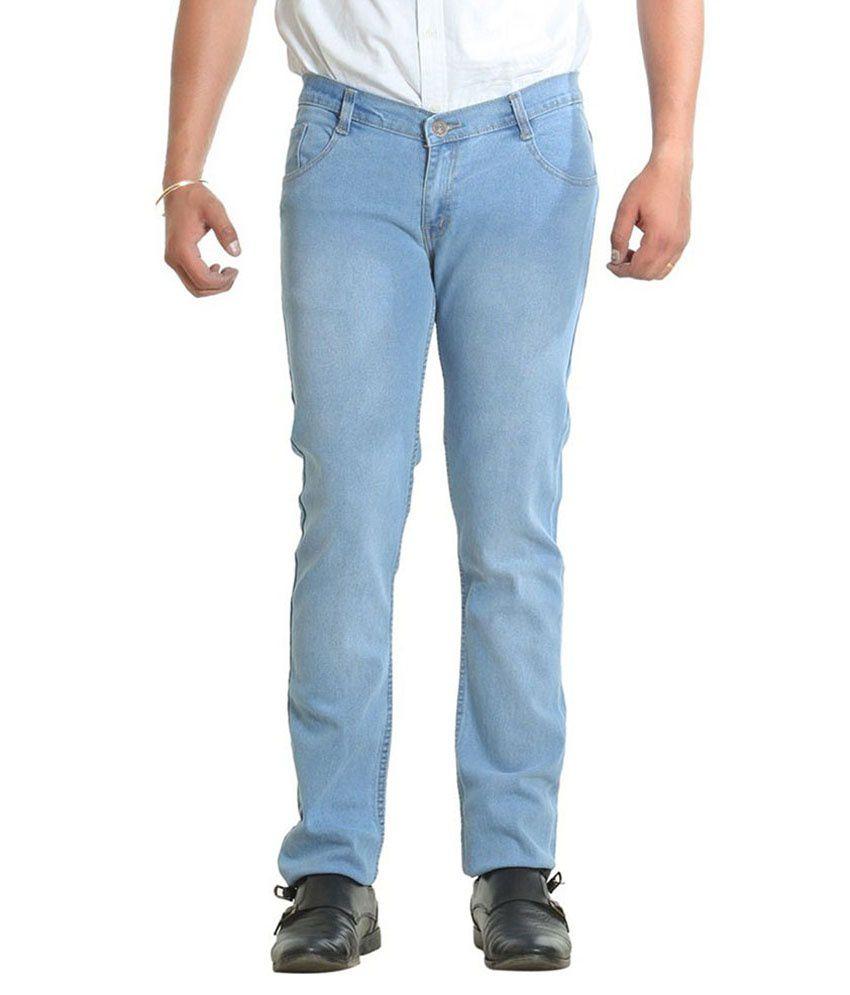 Ruff & Tuff Garments Blue Regular Fit Jeans