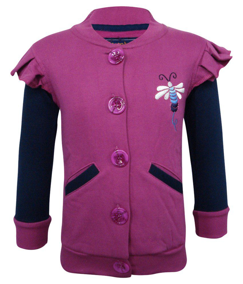Kothari Purple & Blue Sweatshirt For Girls
