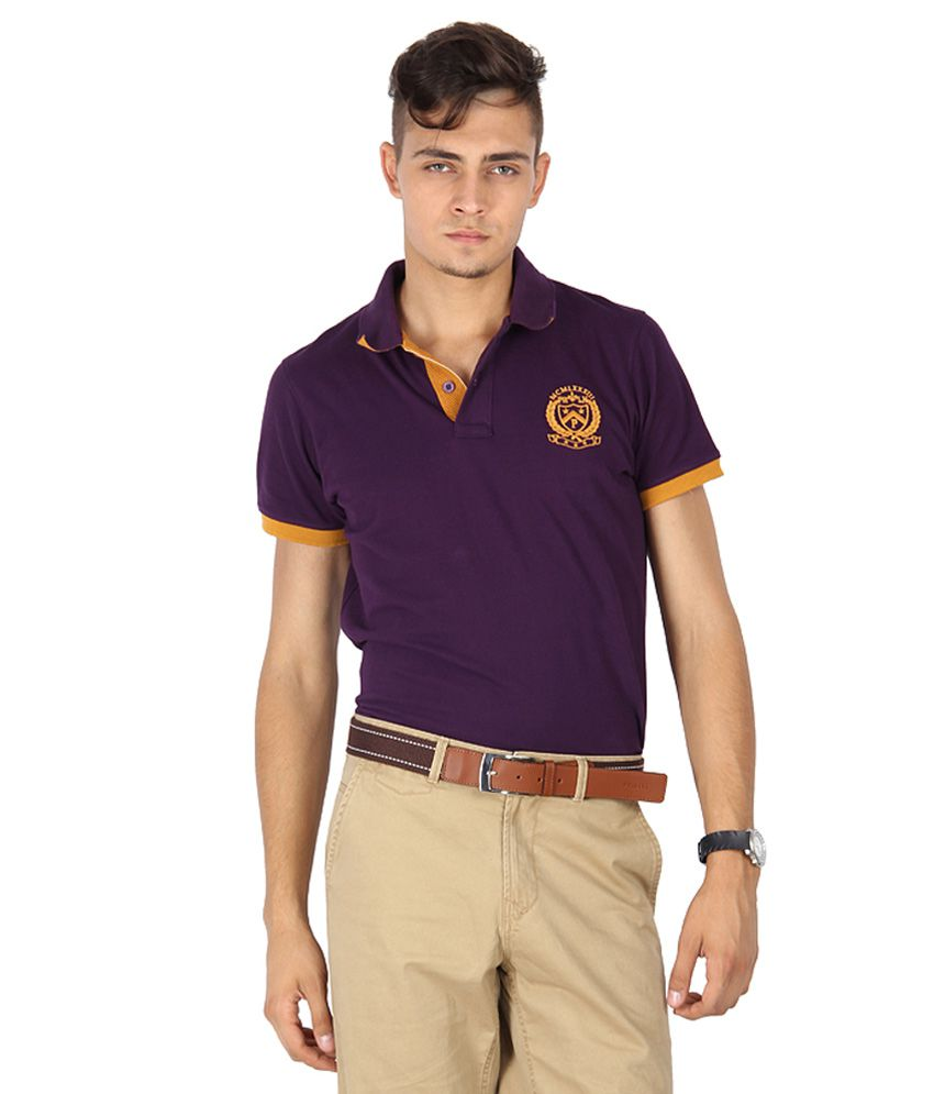 Proline Purple Polo Neck T Shirt