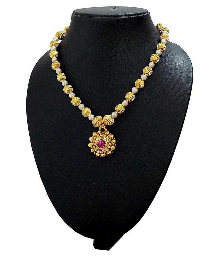 764ca4318101a Womens Trendz Tarbuj Moti Haar Gold Plated Necklace - Buy Womens ...