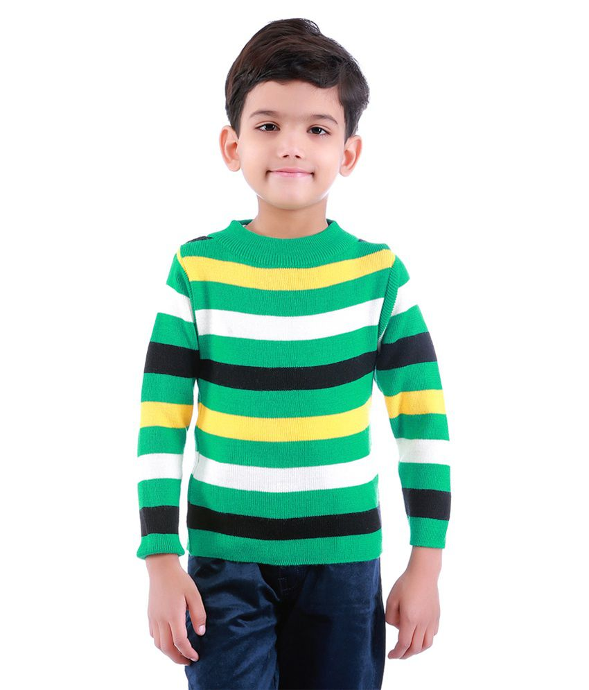 Dee Venice Green Sweaters For Boys