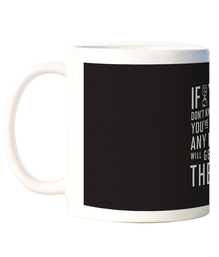 Expresion Multicolor Ceramic Coffee Mug - 300ml