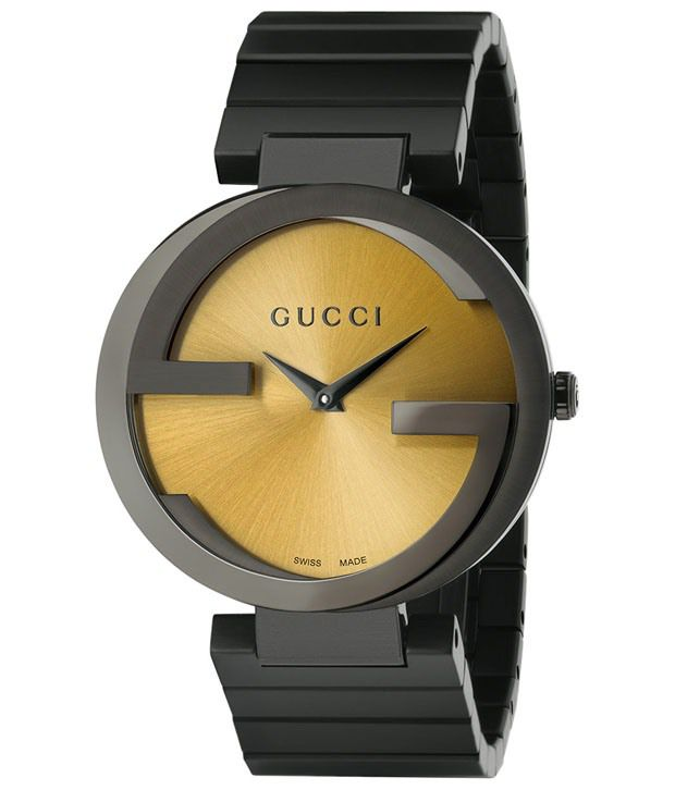 5e7bcf601a0 Gucci Black Analog Wrist Watch for Women Price in India  Buy Gucci Black  Analog Wrist Watch for Women Online at Snapdeal