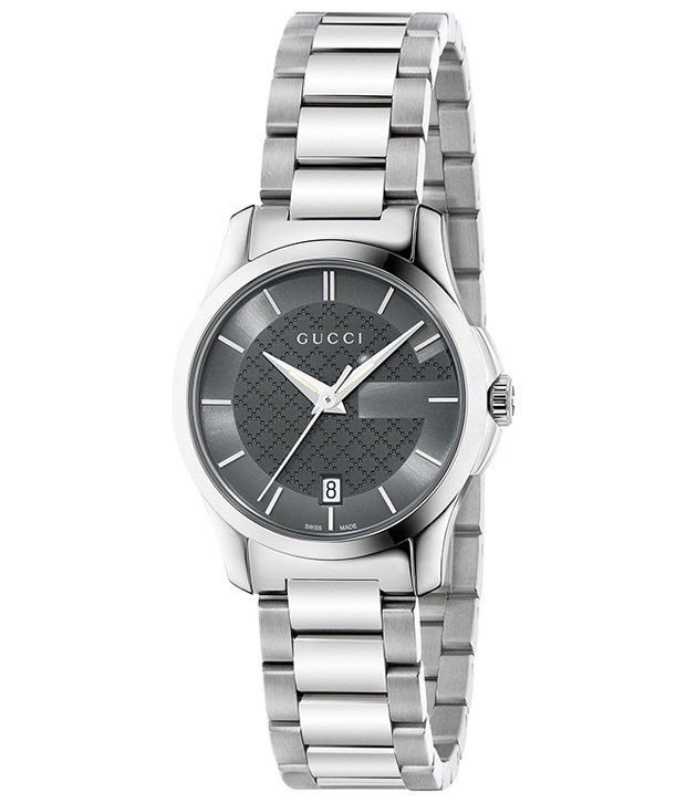 9eb7458aab3 Gucci Silver Analog Wrist Watch for Women Price in India  Buy Gucci Silver  Analog Wrist Watch for Women Online at Snapdeal