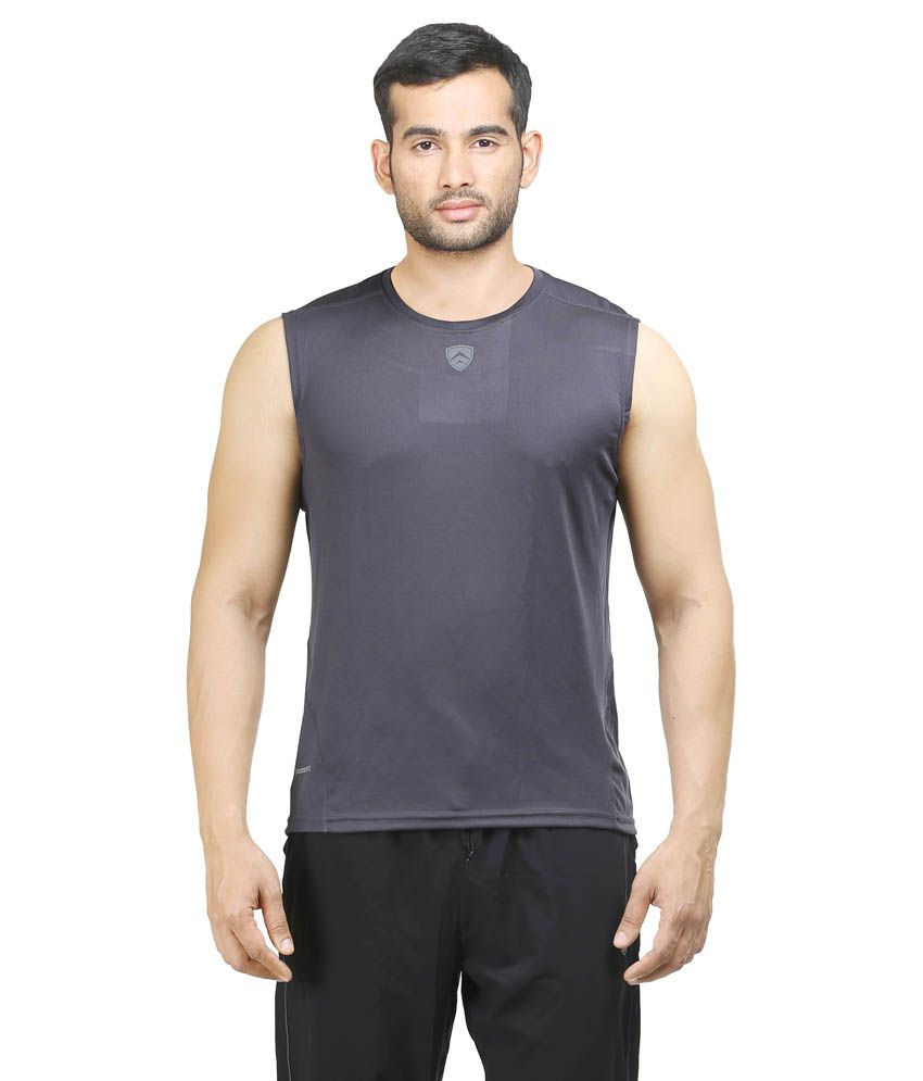 Armr Gray Polyester T-Shirt