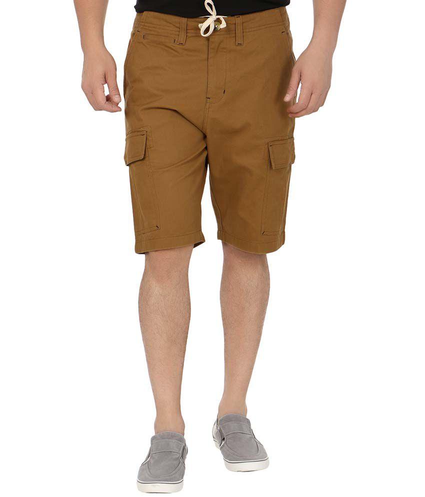 Blimey Brown Cotton Shorts