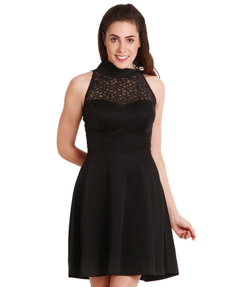 Soie Black Polyester Dresses