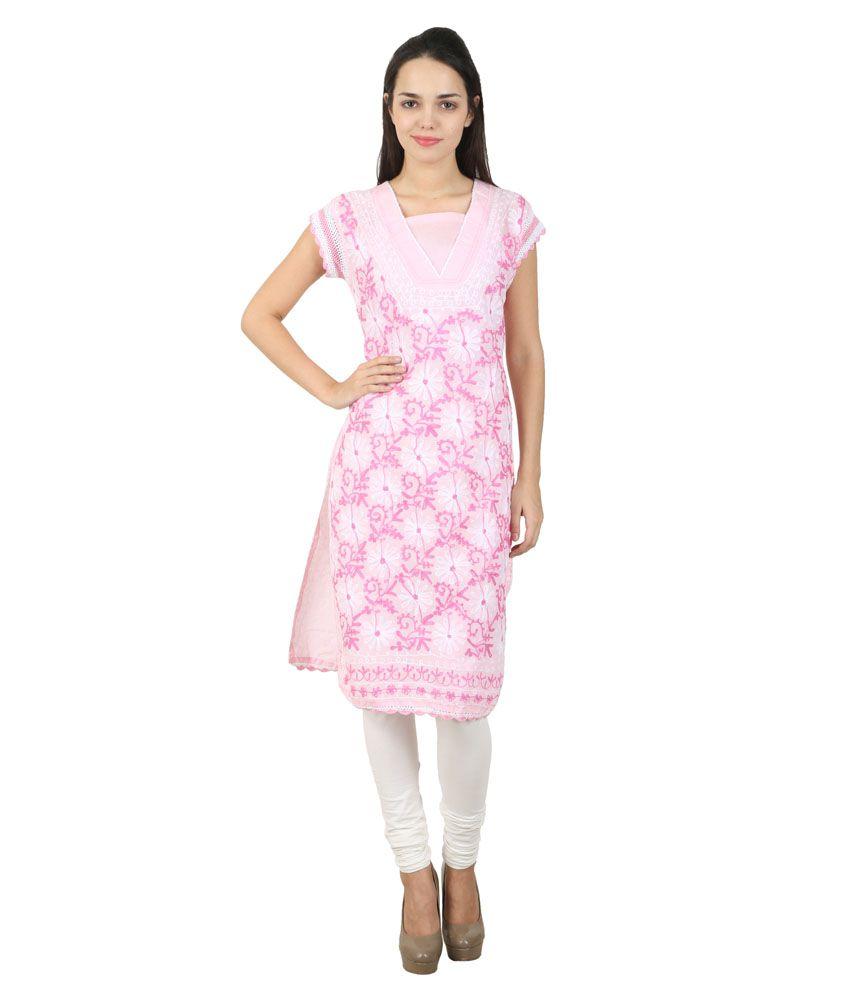 Zea-al Pink Cotton Kurti