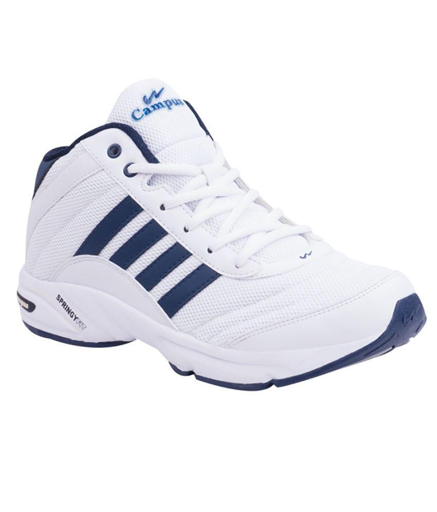 best cheap eb0fd a1138 Campus BOND White Sports Shoes
