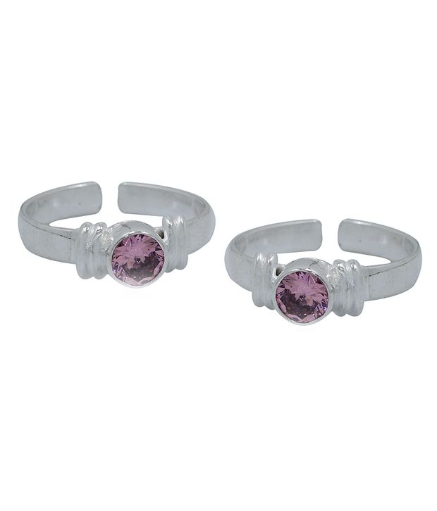 Frabjous Pink Alloy Designer Toe Ring
