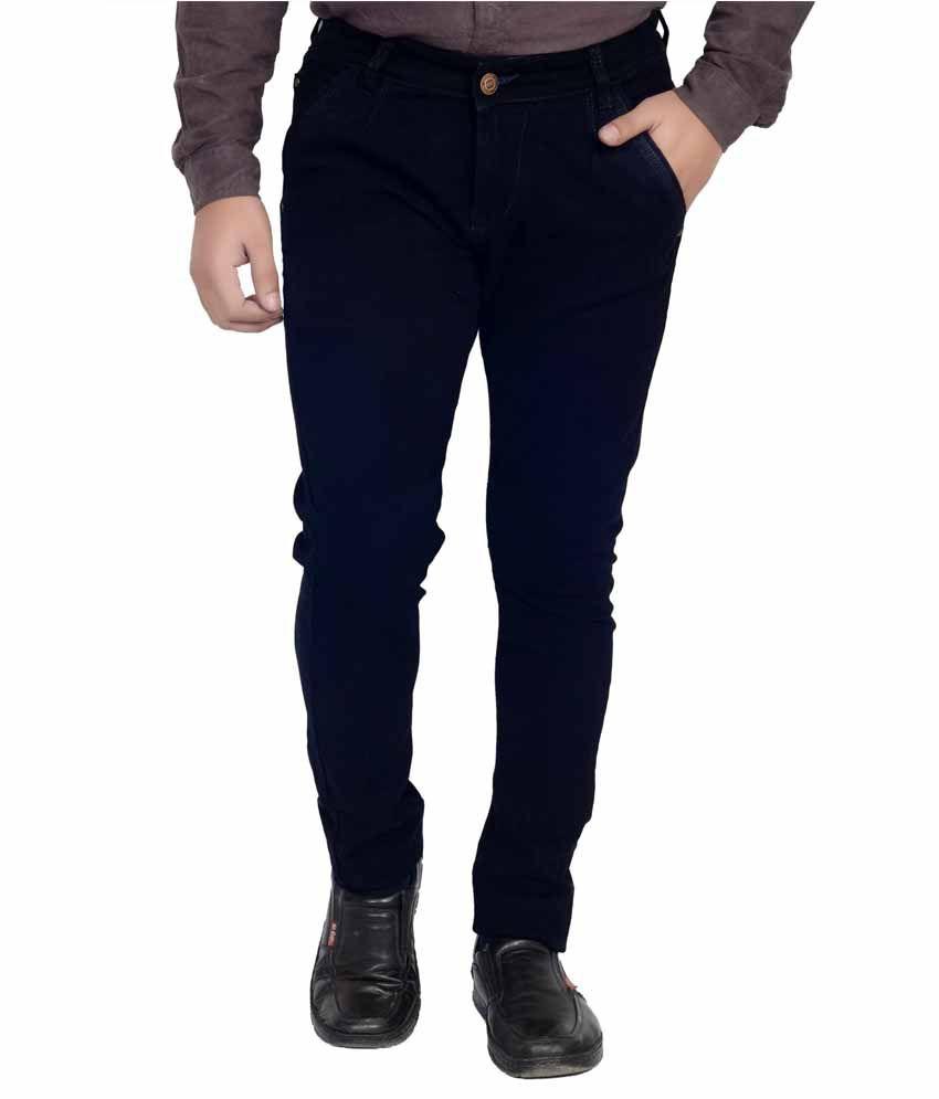Dremz Blu Black Slim Fit Jeans