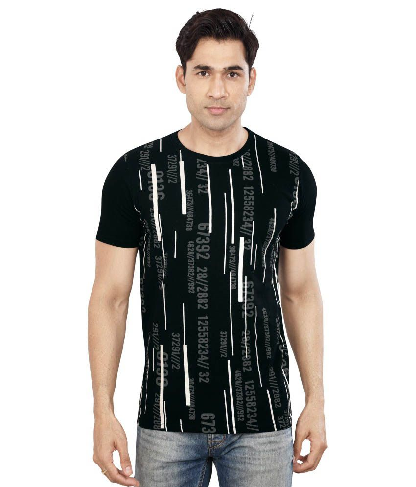 Dudlind Skul & Bones Black Cotton T Shirt