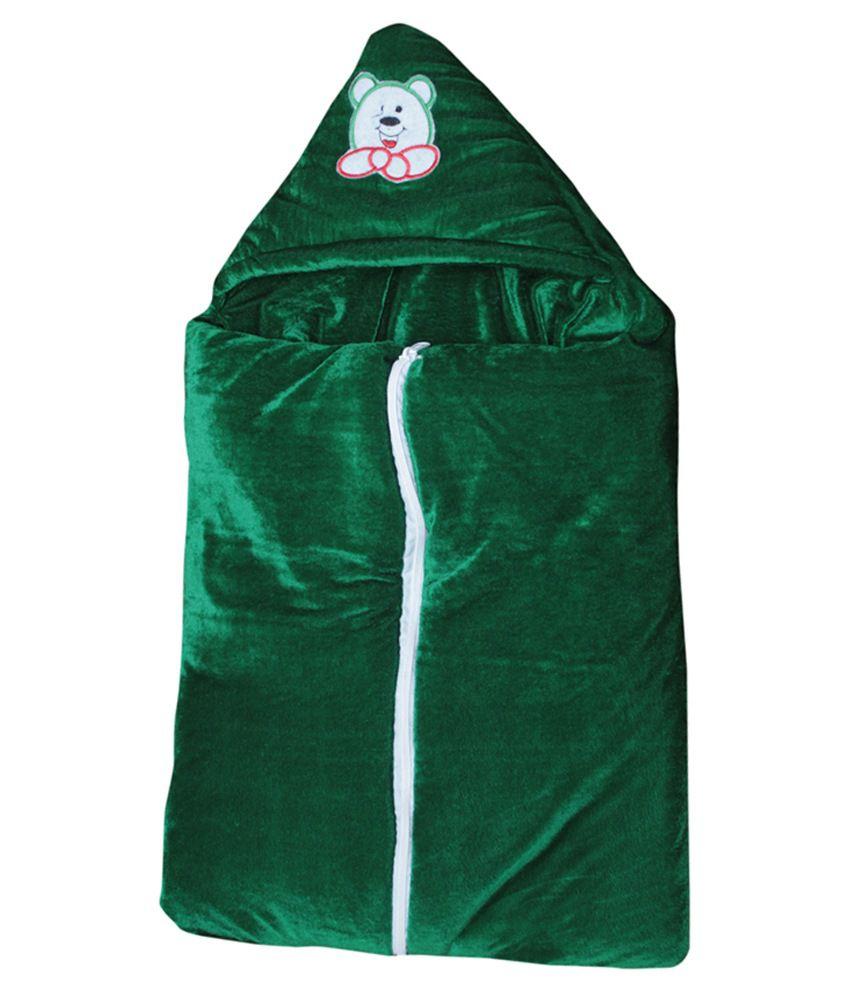 Stylestopper Green Polyester Sleeping Bag For Boys And Girls
