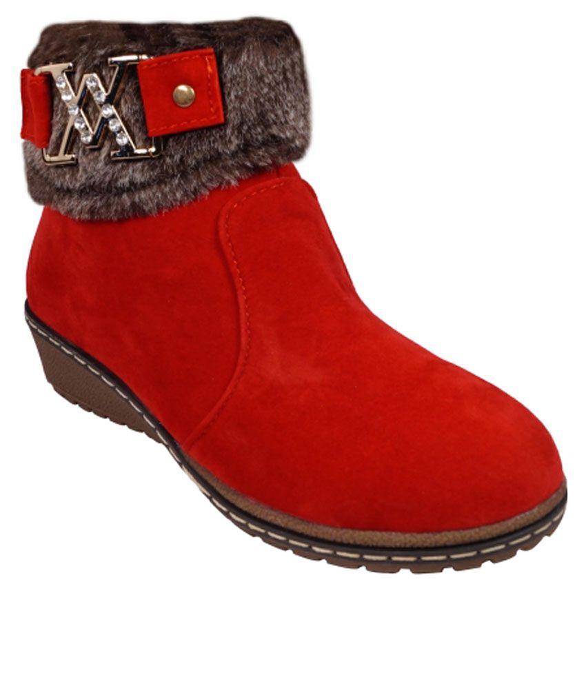 Ladela Red Platform Boots