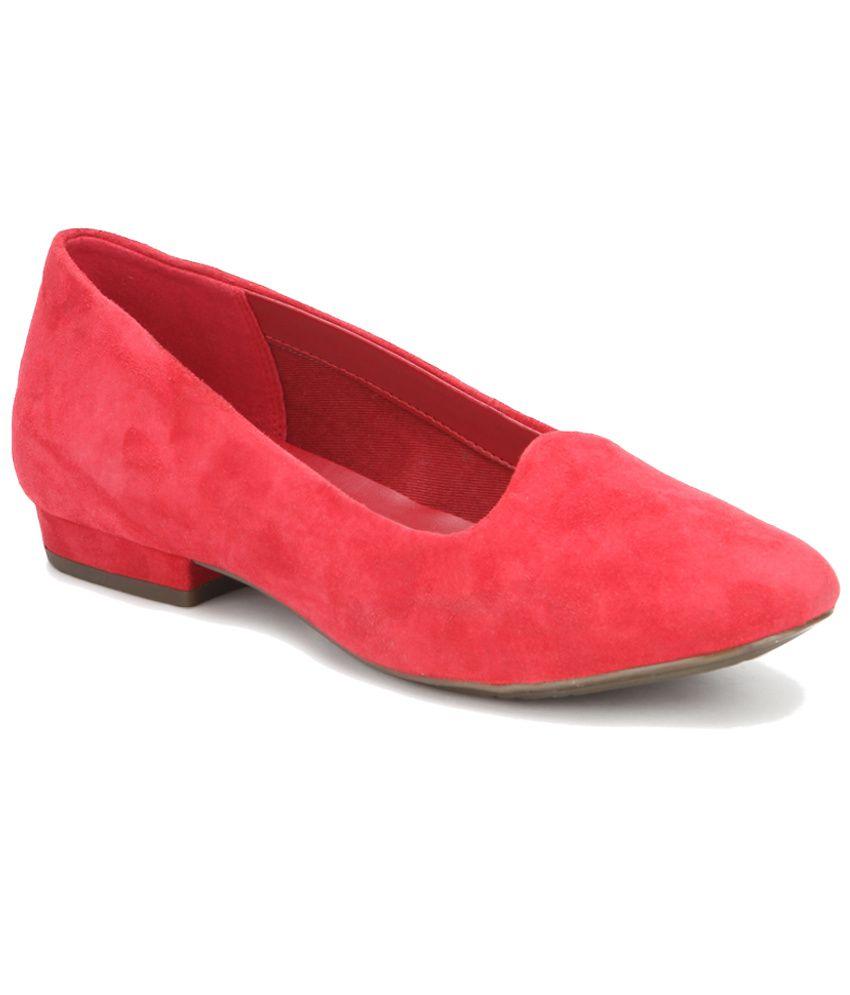 Clarks Red Ballerinas