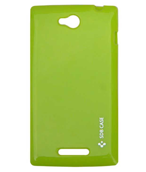 Acm-Soft Silicon Back Case For Sony Xperia C Cover-Green