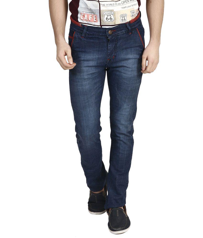 Advika Blue Slim Fit Jeans