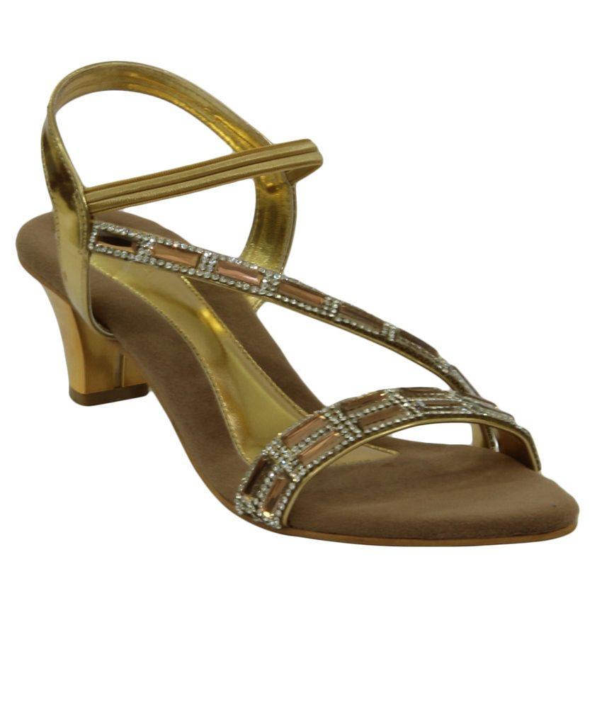 Liza Golden Ethnic Sandals