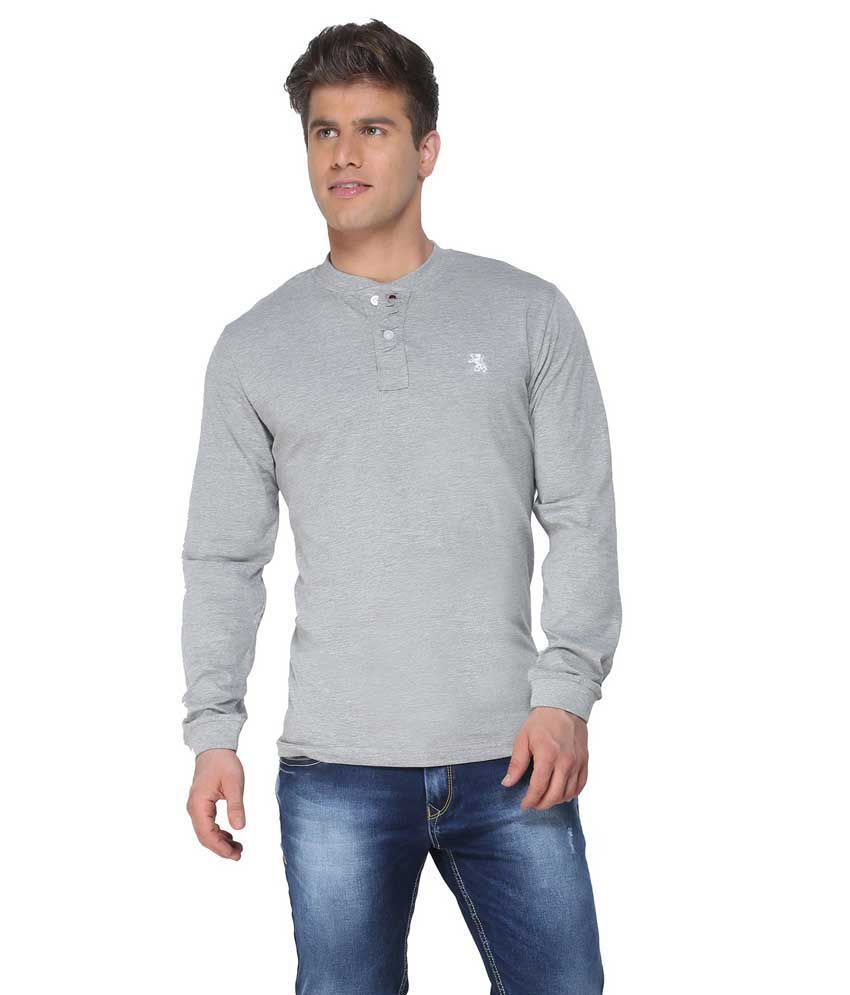 The Cotton Company Grey Cotton T-shirt