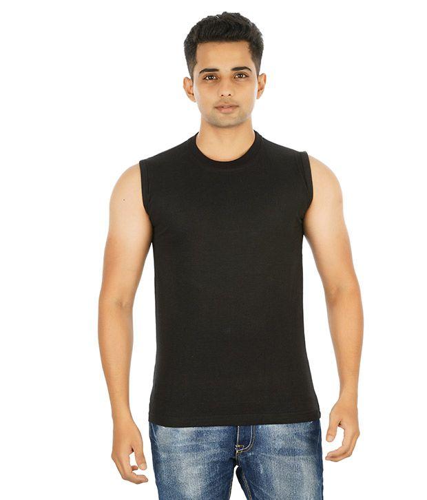 Attitude Black Cotton T- Shirt