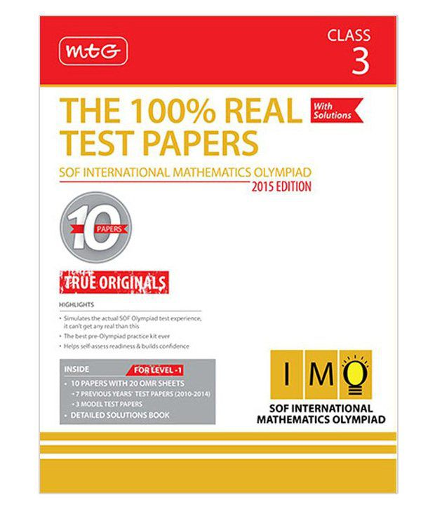 100% Real Test Papers (IMO) Class 3: Buy 100% Real Test