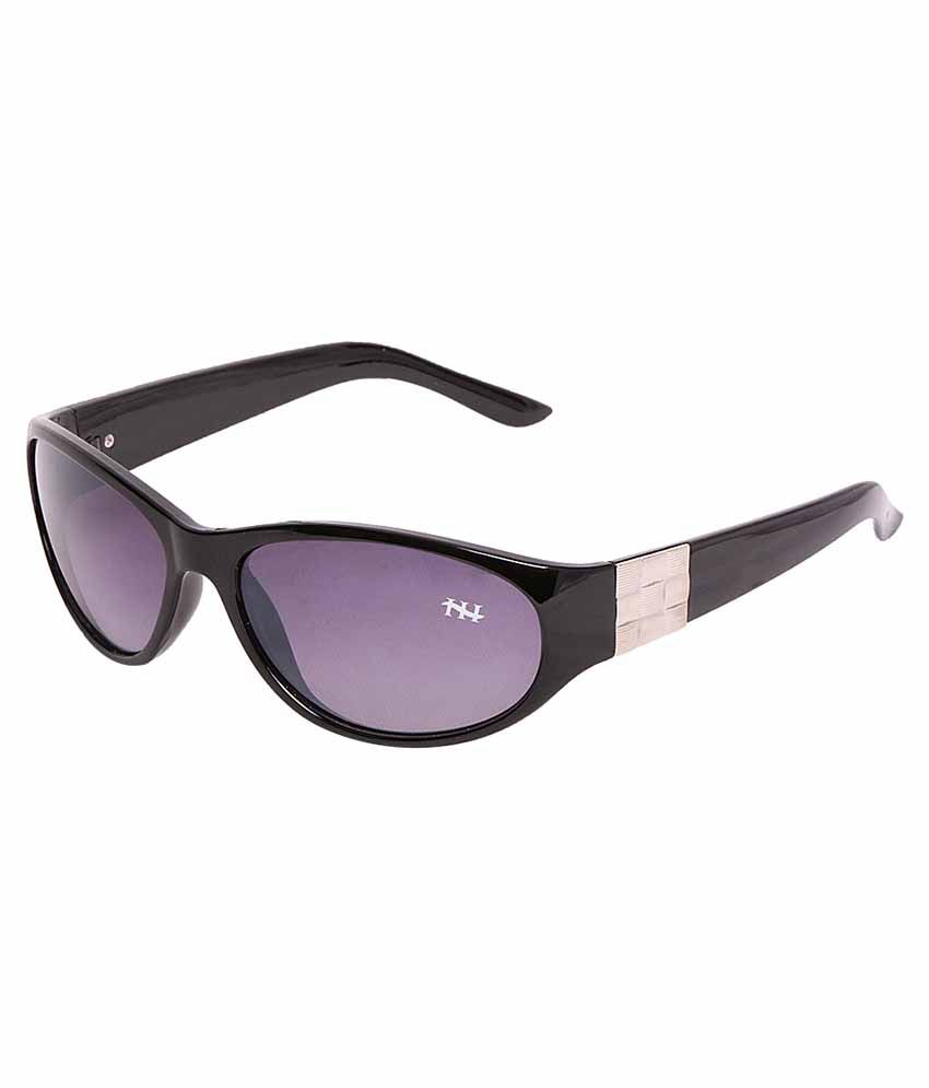HH gaga004blk Purple Wrap Around Sunglasses