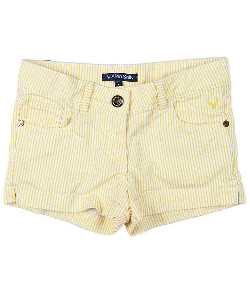 Allen Solly Beige Cotton Shorts