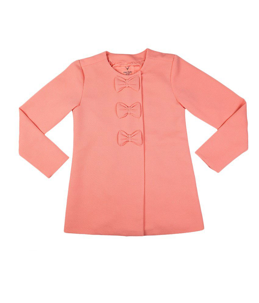 Allen Solly Peach Full Sleeve Coat