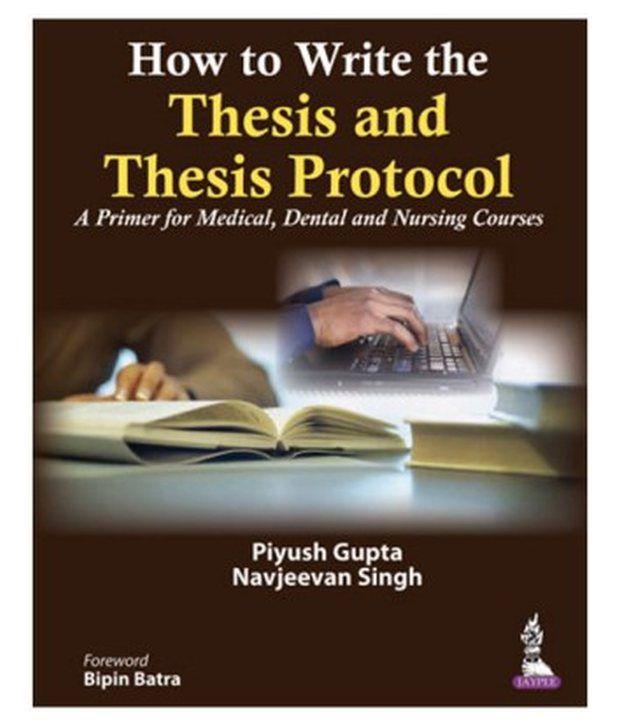 How to write a nursing thesis
