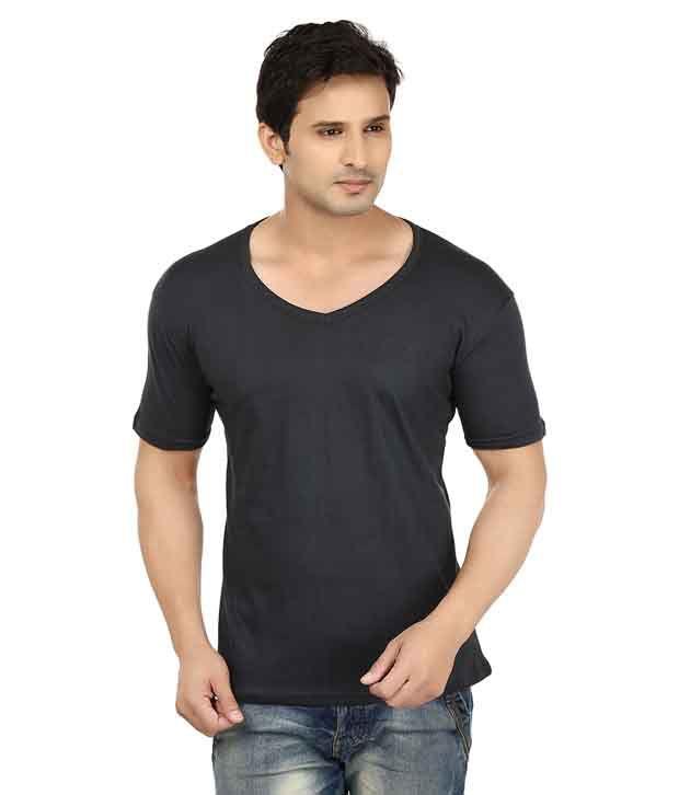 Lowcha Black Cotton T-Shirt