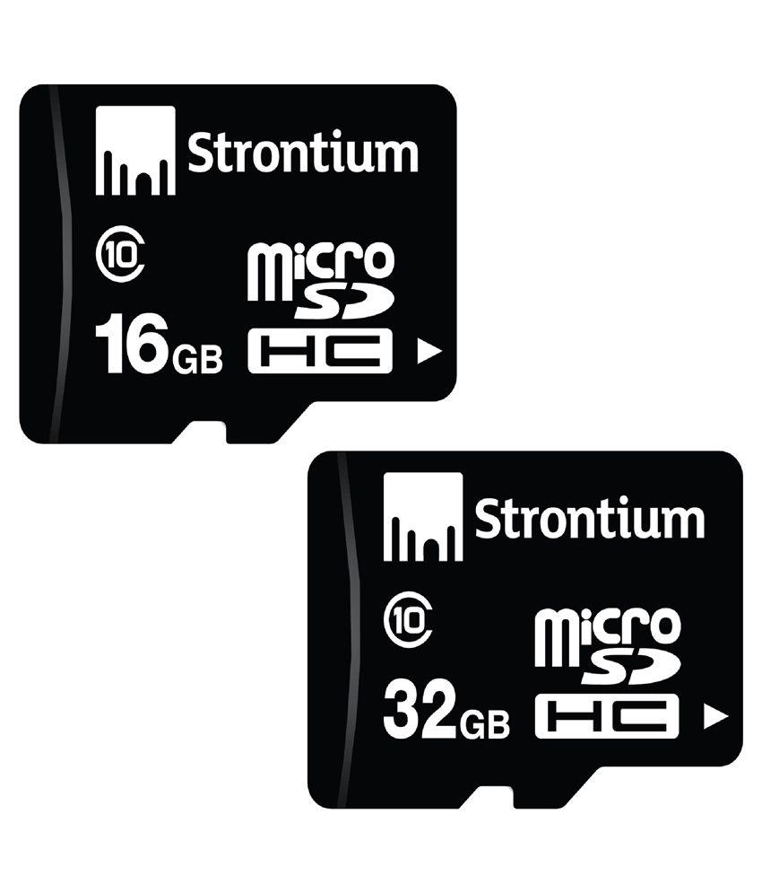 e8e91e9dd Strontium Combo of 16GB microSD Memory Card and 32 GB microSDHC Memory Card  (Class 10) - Memory Cards Online at Low Prices
