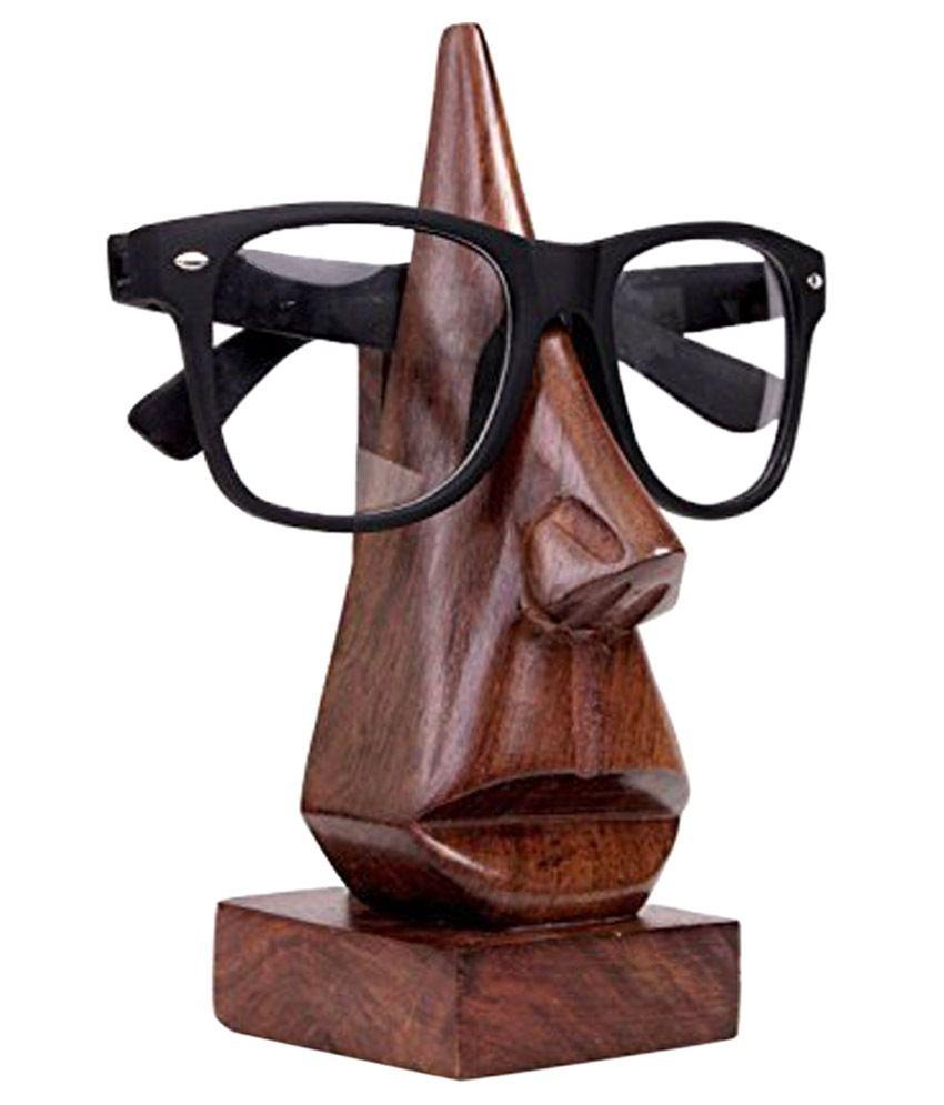 Zitter Brown Wooden Sunglass Stand