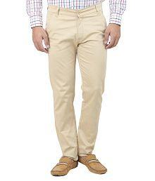 Ansh Fashion Wear Beige Regular Chinos Trouser