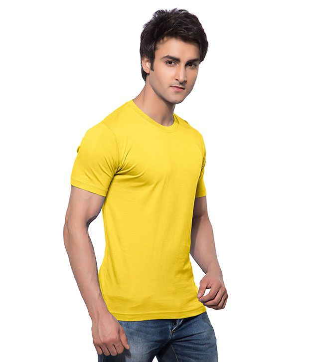 Calix Yellow Cotton T-Shirt - Pack Of 2