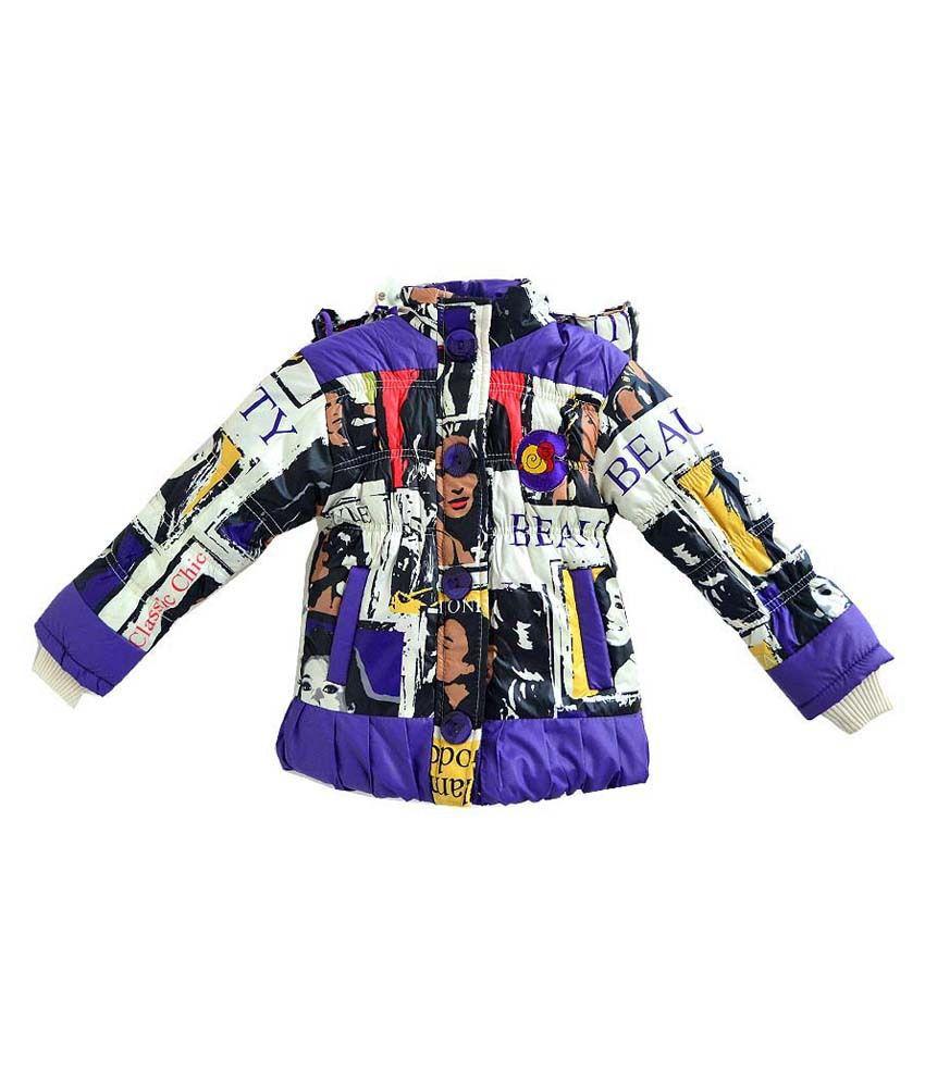 London Girl Purple Jacket For Girls