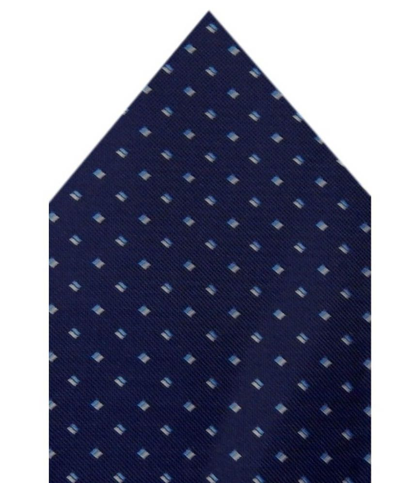Navaksha Navy Micro Fiber Pocket Square