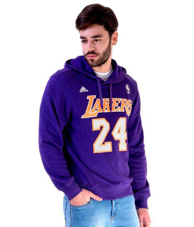 uk cheap sale big sale low price Adidas NBA Purple Lakers Sweatshirt