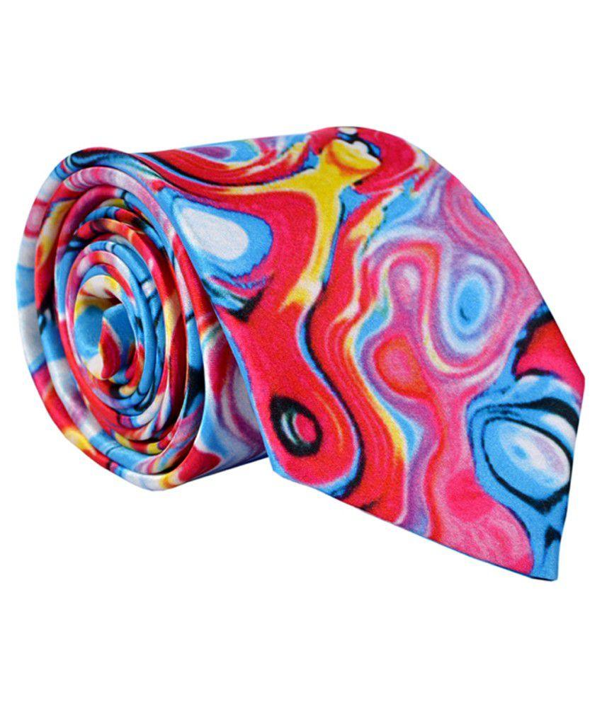 Alvaro Castagnino Multicolor Micro Fiber Formal Necktie for Men