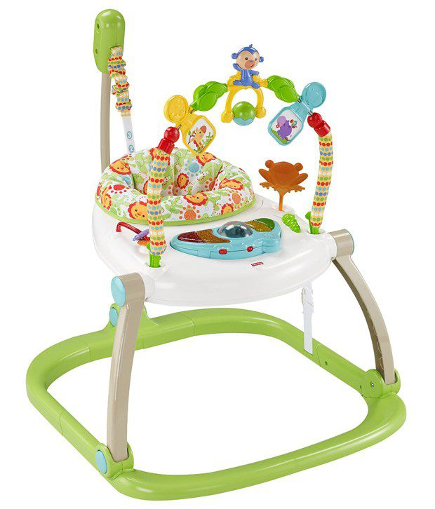58eae5f7f Fisher Price Rainforest Friends Spacesaver Jumperoo Baby Bouncer ...